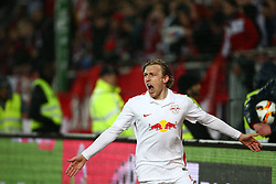 25.04.2016, Fritz Walter Stadion, Kaiserslautern, GER, 2. FBL, 1. FC Kaiserslautern vs RB Leipzig, 31. Runde, im Bild Emil Forsberg (Red Bull Leipzig) bejubelt seinen Treffer zum 0:1 // during the 2nd German Bundesliga 31th round match between 1. FC Kaiserslautern vs RB Leipzig at the Fritz Walter Stadion in Kaiserslautern, Germany on 2016/04/25. EXPA Pictures &copy; 2016, PhotoCredit: EXPA/ Eibner-Pressefoto/ Neis<br /> <br /> *****ATTENTION - OUT of GER*****