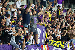 Viole, fans of Maribor during First Leg football match between NK Maribor and FC Astana in Second qualifying round of UEFA Champions League, on July 14, 2015 in Stadium Ljudski vrt, Maribor, Slovenia. Photo by Vid Ponikvar / Sportida