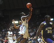 """Ole Miss guard Nick Williams (20) shoots at the C.M. """"Tad"""" Smith Coliseum in Oxford, Miss. on Thursday, December 29, 2010. Ole Miss won 100-62. (AP Photo/Oxford Eagle, Bruce Newman)"""