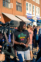 Humber Street, Kingston Upon Hull, East Yorkshire, United Kingdom, 05 August, 2017. Pictured: BBC Face of Hull 2017 reporter Kofi Smiles, Humber Street SESH