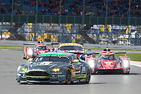 Paul Dalla lana (CAN) / Pedro Lamy (PRT) / Mathias Lauda (AUT) #98 Aston Martin Racing Aston Martin Vantage, during opening laps of the race as part of the WEC 6 Hours of Silverstone 2016 at Silverstone, Towcester, Northamptonshire, United Kingdom. April 17 2016. World Copyright Peter Taylor.