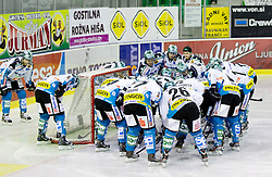 Team EHC Liwest Linz during ice-hockey match between HDD Tilia Olimpija and EHC Liwest Black Wings Linz at second match in Semifinal  of EBEL league, on March 8, 2012 at Hala Tivoli, Ljubljana, Slovenia. (Photo By Matic Klansek Velej / Sportida)
