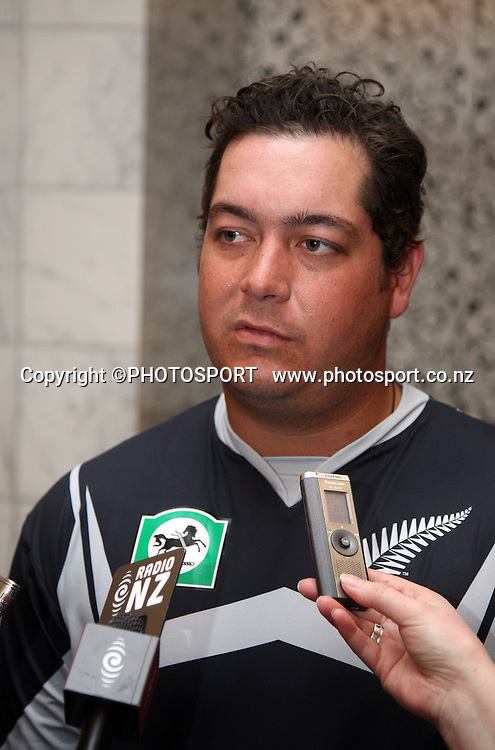 Jesse Ryder during a Black Caps press opportunity, Auckland, 6 November 2008. Photo: Andrew Cornaga/PHOTOSPORT