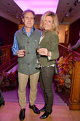 JAMES & AMELIA LINDSAY at a lecture featuring Don McCullin talking on War and Peace with Kate Silverton in aid of TUSK at Christie's, 8 King Street, London on 9th December 2015.