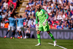 August 5, 2018 - Wilfredo Caballero of Chelsea looks dejected after Sergio Aguero of Manchester City scores the opening goal during the 2018 FA Community Shield match between Chelsea and Manchester City at Wembley Stadium, London, England on 5 August 2018. Photo by Salvio Calabrese. (Credit Image: © AFP7 via ZUMA Wire)