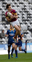 Southland's Lewis Ormond, left, collects a high ball against Otago in the Mitre 10 Cup rugby match, Forsyth Barr Stadium, Dunedin, New Zealand, Sunday, October 14 2017.  Credit:SNPA / Adam Binns ** NO ARCHIVING**