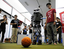 © Licensed to London News Pictures. 22/08/2012. Bristol, UK. FIRA RoboWorld Cup Bristol 2012, held at @Bristol.  22 August 2012..Photo credit : Simon Chapman/LNP