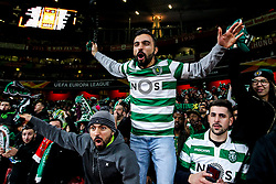 Sporting Lisbon fans at Arsenal - Mandatory by-line: Robbie Stephenson/JMP - 08/11/2018 - FOOTBALL - Emirates Stadium - London, England - Arsenal v Sporting Lisbon - UEFA Europa League