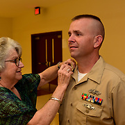 CHICOPEE, Mass -- SEPT 12, 2019 -- The pinning ceremony is an important part of the transition season from First Class Petty officer to Chief Petty Officer. <br /> Across the U.S. Navy every year, Chief Petty Officers train 1st Class Petty Officers who have been selected for promotion in a summer-long training program. The Final Week, in the week leading up to the pinning ceremony in mid-September, is filled with important training events. <br /> This year, the Greater New England Chiefs Mess met for their first two days of Final Week training at USS Constitution, at Charlestown Navy Yard in Boston and then returned to their primary location at Westover Joint Reserve Base in Chicopee, Massachusetts. Greater New England Chiefs Mess is made up of Reserve Chiefs from seven Navy Reserve Operational Support Centers, all within four hours drive of Boston. <br /> U.S. Navy Photo by Chief Mass Communication Specialist Roger S. Duncan