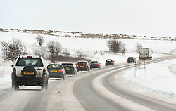 (c) Licenced to London News Pictures 29/01/2015. Cumbria, UK. Snow affects the area around the A66 from Keswick to Penrith. Photo credit : Harry Atkinson/LNP