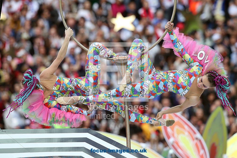 Dancers perform during the opening ceremony of FIFA World Cup Russia 2018 at Luzhniki Stadium, Moscow<br /> Picture by Paul Chesterton/Focus Images Ltd +44 7904 640267<br /> 14/06/2018