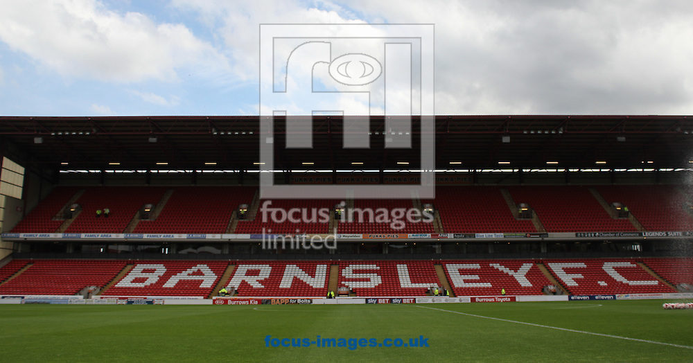 General Stadium view of Barnsley FC Oakwell Stadium ahead of there fixture against Bradford City during the Sky Bet League 1 match at Oakwell, Barnsley<br /> Picture by Stephen Gaunt/Focus Images Ltd +447904 833202<br /> 22/08/2015
