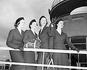 18/02/1958.02/18/1962.18 February 1958.AerLingus special Air Hostesses at Dublin Airport