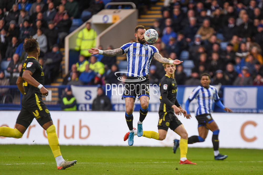 Steven Fletcher of Sheffield Wednesday during the EFL Sky Bet Championship match between Sheffield Wednesday and Brentford at Hillsborough, Sheffield, England on 7 December 2019.