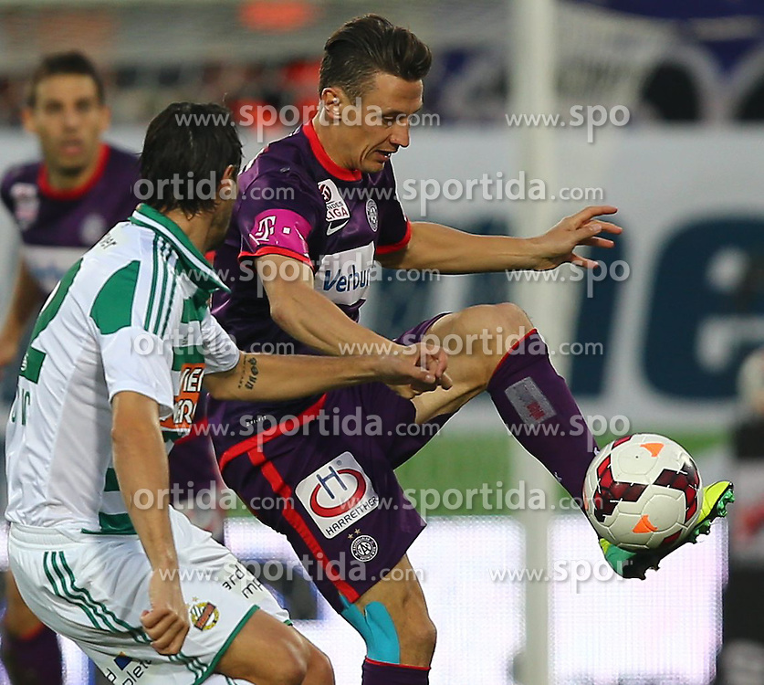27.10.2013, Generali Arena, Wien, AUT, 1. FBL, FK Austria Wien vs SK Rapid Wien, 13. Runde, im Bild Branko Boskovic, (SK Rapid Wien, #32) und Florian Mader, (FK Austria Wien, #17) // during Austrian Bundesliga Football 13th round match, between FK Austria Vienna and SK Rapid Wien at the Generali Arena, Wien, Austria on 2013/10/27. EXPA Pictures © 2013, PhotoCredit: EXPA/ Thomas Haumer