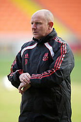 BLACKPOOL, ENGLAND - Wednesday, March 3, 2011: Liverpool's reserve team manager John McMahon during the FA Premiership Reserves League (Northern Division) match against Blackpool at Bloomfield Road. (Photo by David Rawcliffe/Propaganda)