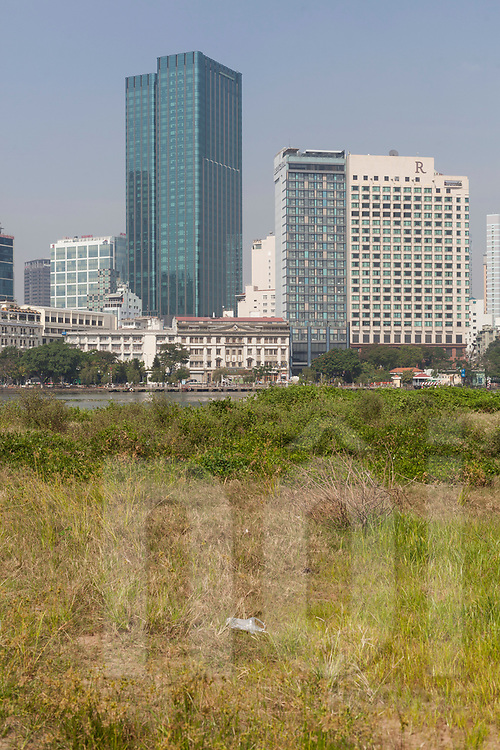 Renaissance Hotel seen from across the Saigon River, Ho Chi Minh City, Vietnam, Southeast Asia