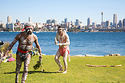Aboriginal Dance on Shark Island, Sydney. . An instant sale option is available where a price can be agreed on image useage size. Please contact me if this option is preferred.