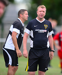 CHRIS CHURCH ASSISTANT MANAGER AND STUART SPENCE MANAGER HARBOROUGH TOWN FC, Whitworths FC v Harborough Town FC, Emirates FA Cup Extra Prelimery Round  Saturday 11th August 2018