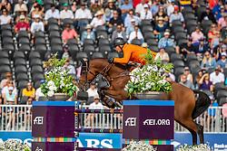 HOUTZAGER Marc (NED), Sterrehof's Calimero<br /> Tryon - FEI World Equestrian Games™ 2018<br /> FEI World Individual Jumping Championship<br /> Third cometition - Round A<br /> 3. Qualifikation Einzelentscheidung 1. Runde<br /> 23. September 2018<br /> © www.sportfotos-lafrentz.de/Stefan Lafrentz