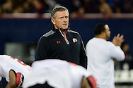 TUCSON, AZ - NOVEMBER 14: Head coach Kyle Whittingham of the Utah Utes walks on the field prior to the game against the Arizona Wildcats at Arizona Stadium on November 14, 2015 in Tucson, Arizona.  (Photo by Jennifer Stewart/Getty Images)