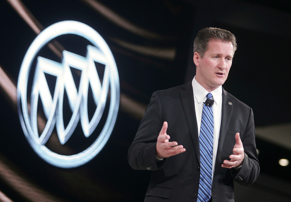 GR --- Detroit, Michigan ---11-01-10--- John Schwegman, US Marketing Vice President for Buick introduces the Buick Verano (not Pictured) at the North American International Auto Show in Detroit, Michigan January 10, 2011.<br /> Geoff Robins AFP