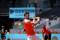 May 9, 2019 - Madrid, Spain - Jérémy Chardy (FRA) in his match against Novak Đoković (SRB) during day six of the Mutua Madrid Open at La Caja Magica in Madrid on 9th May, 2019. (Credit Image: © Juan Carlos Lucas/NurPhoto via ZUMA Press)