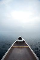 Canoe on Lake Sebago, Maine