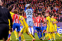 Atletico de Madrid's player Antoine Griezmann and Fernando Torres and CF Rostov's player Fedor Kudryashov and Soslan Dzhanaev during a match of UEFA Champions League at Vicente Calderon Stadium in Madrid. November 01, Spain. 2016. (ALTERPHOTOS/BorjaB.Hojas)