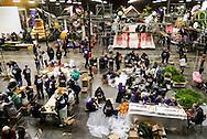 12月29日, 在美国加利福尼亚州帕萨迪纳市,志愿工作者正忙碌为玫瑰花车作最后粉色。第127届玫瑰花车游行(Rose Parade)将在1月1日在帕萨迪纳的科罗拉多大道(Colorado Boulevard)上举行,届时将吸引数以十万计的人前来观赏这一年度盛事。新华社发 (赵汉荣摄)<br /> Float decorations for the 127th annual Tournament of Roses parade are underway in Pasadena on December 29, 2015 in California, the United States. Better known as the Rose Parade, the festival of flower-covered floats will take place on New Year's Day, Jan. 1, 2016. (Xinhua/Zhao Hanrong)(Photo by Ringo Chiu/PHOTOFORMULA.com)<br /> <br /> Usage Notes: This content is intended for editorial use only. For other uses, additional clearances may be required.