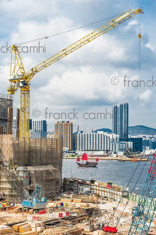 Kowloon skyline and waterfront in Hong Kong
