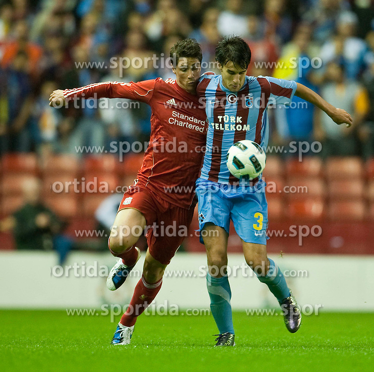 19.08.2010, Anfield Road, Liverpool, ENG, UEFA EL, Liverpool Fc vs Trabzonspor, im Bild Liverpool's Fernando Torres and Trabzonspor's Hrvoje Cale, EXPA Pictures © 2010, PhotoCredit: EXPA/ Propaganda/ D. Rawcliffe *** ATTENTION *** UK OUT! / SPORTIDA PHOTO AGENCY
