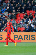 Marcos Aoas Correa dit Marquinhos (PSG) scored a goal from the decisive ball gaved from Giovani Lo Celso (PSG) during the French championship Ligue 1 football match between Paris Saint-Germain (PSG) and Bastia on May 6, 2017 at Parc des Princes Stadium in Paris, France - Photo Stephane Allaman / ProSportsImages / DPPI