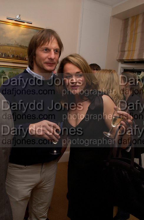 Kate Hunter, Opening of Bridge club, Mossop St. 27 April 2004. ONE TIME USE ONLY - DO NOT ARCHIVE  © Copyright Photograph by Dafydd Jones 66 Stockwell Park Rd. London SW9 0DA Tel 020 7733 0108 www.dafjones.com