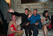 DAVID HOLLANDER; MATHIAS POLEDNA; THOMAS EGGERED, Andrea Dibelius of the EMDASH Foundation hosts party to celebrate the Austrian Pavilion and artist Mathias Poledna at the Venice Biennale. Palazzo Barbaro, Venice. 30 May 2013<br /> <br /> <br /> Venice. Venice Bienalle. 28 May 2013