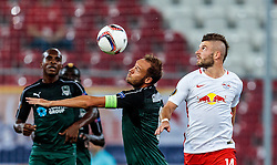 15.09.2016, Red Bull Arena, Salzburg, AUT, UEFA EL, FC Red Bull Salzburg vs FC Krasnodar, Gruppe I, 1. Runde, im Bild Andreas Granqvist (FC Krasnodar), Valon Berisha (FC Red Bull Salzburg) // during the UEFA Europa League, group I, 1st round match between FC Red Bull Salzburg and FC Krasnodar at the Red Bull Arena in Salzburg, Austria on 2016/09/15. EXPA Pictures © 2016, PhotoCredit: EXPA/ JFK