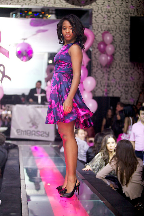 Pink Heels, a fashion show charity event aimed at raising money for women battling all types of cancers, held its first event at Time Supper Club in Montreal, Canada on November 12th, 2010...Featuring designs by Arti Gogna, Jennifer Massabni and Marina Sonin and a special performance by Shawn Mista Wellz, the evening also brought in a team of volunteers thanks to taskhire.ca and was closely affiliated with Pink Heals - Guardians of the Ribbon.