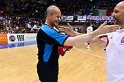 DESCRIZIONE : Trieste Nazionale Italia Uomini Torneo internazionale Italia Serbia Italy Serbia<br /> GIOCATORE : Guerrino Cerebuch Arbitro Aleksandar Sasha Djordjevic<br /> CATEGORIA : Arbitro Fairplay<br /> SQUADRA : Arbitro Serbia Serbia<br /> EVENTO : Torneo Internazionale Trieste<br /> GARA : Italia Serbia Italy Serbia<br /> DATA : 05/08/2014<br /> SPORT : Pallacanestro<br /> AUTORE : Agenzia Ciamillo-Castoria/GiulioCiamillo<br /> Galleria : FIP Nazionali 2014<br /> Fotonotizia : Trieste Nazionale Italia Uomini Torneo internazionale Italia Serbia Italy Serbia