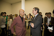 ALEX KATZ AND TERRY DANZIGER , Alex Katz 'One Flight Up' at the new Timothy Taylor Gallery , 15 Carlos Place. London. 11 October 2007. -DO NOT ARCHIVE-© Copyright Photograph by Dafydd Jones. 248 Clapham Rd. London SW9 0PZ. Tel 0207 820 0771. www.dafjones.com.
