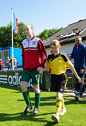 HAVERFORDWEST, WALES - Sunday, August 25, 2013: Wales' Samantha Quayle walks out before the Group A match against France of the UEFA Women's Under-19 Championship Wales 2013 tournament at the Bridge Meadow Stadium. (Pic by David Rawcliffe/Propaganda)