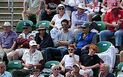 Australia's Men's International Mitchell Starc looks on from the stands at Taunton as girlfriend and Australia Women's Ellyse Healey keeps wicket. . - Photo mandatory by-line: Harry Trump/JMP - Mobile: 07966 386802 - 21/07/15 - SPORT - CRICKET - Women's Ashes - Royal London ODI - England Women v Australia Women - The County Ground, Taunton, England.