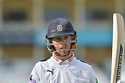 during the Specsavers County Champ Div 1 match between Nottinghamshire County Cricket Club and Hampshire County Cricket Club at Trent Bridge, West Bridgford, United Kingdom on 13 August 2016. Photo by Simon Trafford.