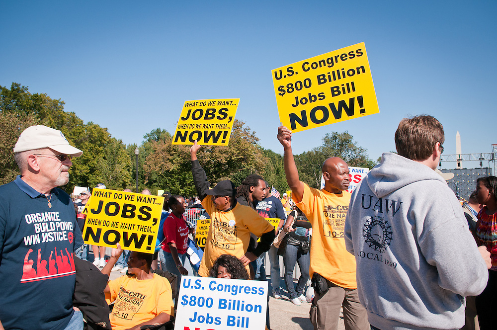 "The One Nation Working Together rally was held on October 2, 2010 in Washington, D.C. by a coalition of liberal and progressive organizations operating under the umbrella of ""One Nation Working Together"". It was held on the steps of the Lincoln Memorial to demand better jobs, immigration and education reform[1] and as an ""antidote"" to the Tea Party movement"