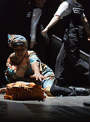 """© Licensed to London News Pictures. 12/02/2013. London, England. Amaka Okafor as Amal. London premiere of the musical """"Glasgow Girls"""" written by David Greig and directed by Cora Bissett at the Theatre Royal Stratford East. Photo credit: Bettina Strenske/LNP"""