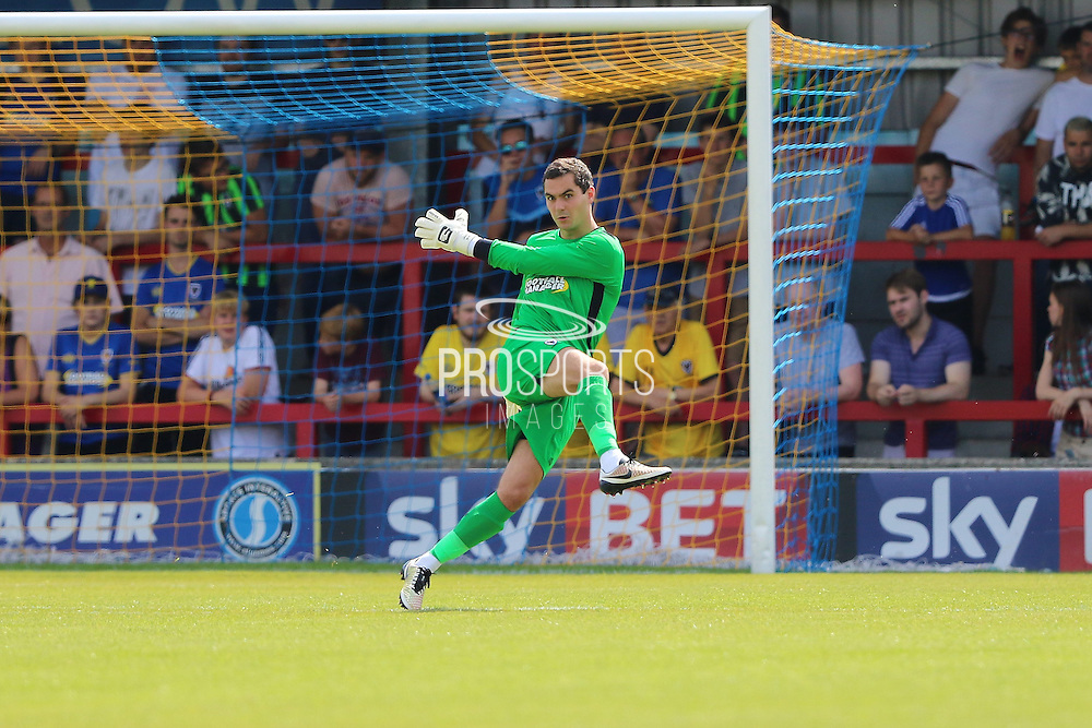 AFC Wimbledon goalkeeper James Shea (1) during the Pre-Season Friendly match between AFC Wimbledon and Reading at the Cherry Red Records Stadium, Kingston, England on 23 July 2016. Photo by Stuart Butcher.