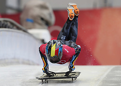 Belgium's Kim Meylemans during the Women's Skeleton practice on day three of the PyeongChang 2018 Winter Olympic Games in South Korea. PRESS ASSOCIATION Photo. Picture date: Monday February 12, 2018. See PA story OLYMPICS Skeleton. Photo credit should read: David Davies/PA Wire. RESTRICTIONS: Editorial use only. No commercial use.