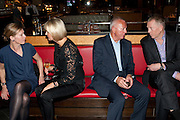 DEBBIE BOOM; ANNA SOSNOWSKA; TONY BUCKINGHAM; GARY BOOM;, Fine Wine and Dine in aid of  Sick Children's Trust. Cafe Anglais. London. 1 March 2012