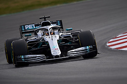 February 19, 2019 - Barcelona, Barcelona, Spain - Lewis Hamilton of Great Britain driving the (44) Mercedes AMG Petronas F1 Team Mercedes W10 during day two of F1 Winter Testing at Circuit de Catalunya on February 19, 2019 in Montmelo, Spain. (Credit Image: © Jose Breton/NurPhoto via ZUMA Press)