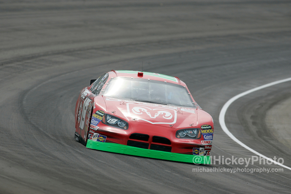 Jeremy Mayfield qualified second for the Allstate 400 at the Brickyard in Indianapolis, IN.