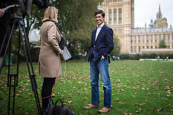 © Licensed to London News Pictures. 04/10/2019. London, UK. Rory Stewart (R) in Westminster. Rory Stewart has announced his resignation from the Conservative Party and his intention to stand as an independent candidate for Mayor of London. Photo credit: Rob Pinney/LNP